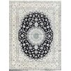 Pasargad Nain Hand-Knotted Ivory / Navy Area Rug