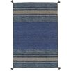Pasargad Kilim Hand-Woven Blue Area Rug (Set of 10)