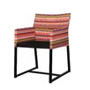 Mamagreen Stripe Dining Arm Chair with Cushion