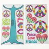 One Grace Place Terrific Tie Dye Wall Decal (Set of 2)