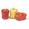 Foreside Home & Garden French Market Ceramic Pepper Sculptures (Set of 3)