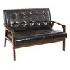 "Wholesale Interiors Brolin 39.5"" Loveseat in Brown"