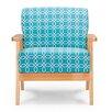 Wholesale Interiors Baxton Studio Francis Retro Mid Century Fabric Arm Chair