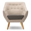 Wholesale Interiors Baxton Studio Astrid Mid-Century Fabric Arm Chair