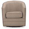 Wholesale Interiors Baxton Studio Classic Retro Upholstered Barrel Chair