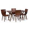 Wholesale Interiors Baxton Studio Elsa Dark Walnut Bent Wood 5-Piece Dining Set