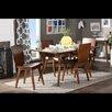 Wholesale Interiors Elsa Dark Walnut Bent Wood 5-Piece Dining Set