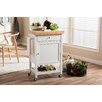Wholesale Interiors Kitchen Cart with Wood Top