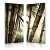Wholesale Interiors Baxton Studio Diptych 'Bamboo Stalks Mounted' 2 Piece Framed Photographic Print on Canvas Set