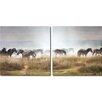 Wholesale Interiors Baxton Studio Diptych 'a Zeal of Zebras Mounted' 2 Piece Framed Photographic Print on Canvas Set