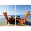 Wholesale Interiors Baxton Studio Twin Prows 2 Piece Framed Photographic Print on Canvas Set