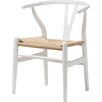 Wholesale Interiors Baxton Studio Wishbone Dining Y Chair in Ivory White