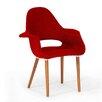 Wholesale Interiors Baxton Studio Forza Twill Mid-Century Style Arm Chair (Set of 2)