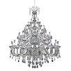 Allegri by Kalco Lighting Clovio 50 Light Crystal Chandelier