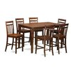 East West Furniture Dudley 7 Piece Counter Height Pub Table Set