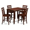 East West Furniture Buckland 5 Piece Counter Height Dining Set