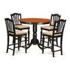 East West Furniture Trenton 5 Piece Counter Height Pub Table Set