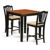 East West Furniture 3 Piece Counter Height Pub Table Set