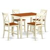 """East West Furniture Yarmouth 36"""" 5 Piece Pub Table Set"""
