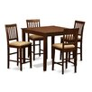 Wooden Importers Vernon 5 Piece Counter Height Dining Set
