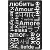 Oliver Gal Hatcher & Ethan Worldwide Love Textual Art on Wrapped Canvas