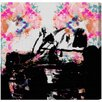 Oliver Gal Burst Creative Zaza Painting Print on Wrapped Canvas