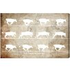 Oliver Gal Canyon Gallery Cows in Motion Graphic Art on Wrapped Canvas