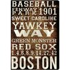 Oliver Gal Hatcher & Ethan Boston Red Sox Textual Art on Wrapped Canvas