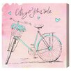 "Oliver Gal ""Pink Hearts Bicycle"" by Olivia's Easel Canvas Art"