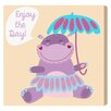 """Oliver Gal """"Happy Hippo"""" by Olivia's Easel Canvas Art"""