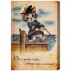 """Oliver Gal """"Captain Kitty"""" by Olivia's Easel Canvas Art"""