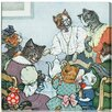 "Oliver Gal ""The Cat Family"" by Olivia's Easel Canvas Art"