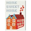 """Oliver Gal """"Kids Home Sweet Home"""" by Olivia's Easel Canvas Art"""