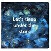 "Oliver Gal Burst Creative Sleep Under the Stars by Olivia""s Easel Canvas Art"