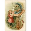 "Oliver Gal ""Alice and the Caterpillar 1898"" by Olivia's Easel Canvas Art"