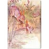 """Oliver Gal """"Bunny Fell in the Pond"""" by Olivia's Easel Canvas Art"""