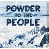 """Oliver Gal LAB Creative """"Powder to the People"""" Graphic Art on Wrapped Canvas"""