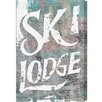 Oliver Gal Hatcher and Ethan Ski Lodge Textual Art on Canvas