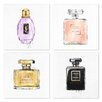 Oliver Gal Oliver Gal My Perfumes 4 Piece Graphic Art Set on Wrapped Canvas