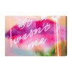 "Oliver Gal Burst Creative It Wasn""t Me Graphic Art on Wrapped Canvas"