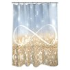 Oliver Gal Oliver Gal Home Infinite Love Sign Shower Curtain