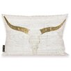 Oliver Gal Oliver Gal Home Evening Desert Skull Lumbar Pillow