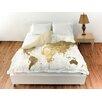 Oliver Gal Oliver Gal Home Mapamundi Duvet Cover