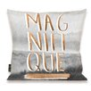 Oliver Gal Oliver Gal Home Magnifique Rose Throw Pillow