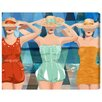 "Oliver Gal ""Swimming Beauties"" by Runway Avenue Painting Print on Wrapped Canvas"