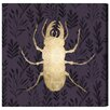 "Oliver Gal ""Golden Beetle I"" by Canyon Gallery Graphic Art on Wrapped Canvas"