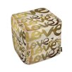 Oliver Gal Four Letter Word Ottoman