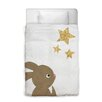Oliver Gal Easel Bunny and The Stars Duvet Cover