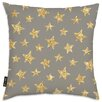 Oliver Gal Easel Gold Stars Pattern Throw Pillow