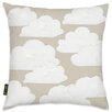 Oliver Gal Easel Khaki Clouds Throw Pillow